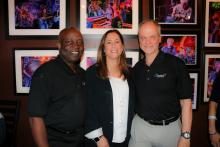 Ivan M. Benjamin, Jr., Wendy Pressner, and Guest of Honor, Jack Jaiven of Signature Gives Back, Inc.